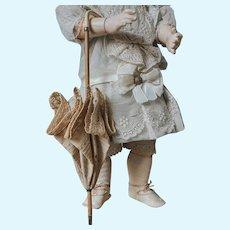Antique Doll Umbrella in cotton