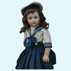 Wonderful French Bebe Steiner Doll Figure A Closed Mouth