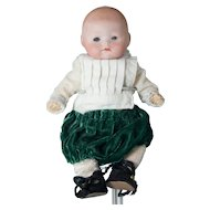 """Tiny 6 1/2"""" Antique German Baby with Composition Body & Sleep Eyes"""