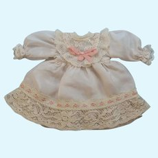 """Beautiful Silk Dress for 6"""" French or German Antique Doll"""