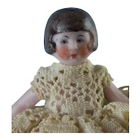 "3"" All Bisque Flapper Doll"