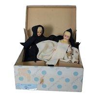 2 Nancy Ann Storybook Nun Dolls