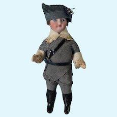 "5 1/4"" Antique All Original Boy w Sword Marked Paris Unis France"