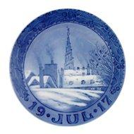Royal Copenhagen 1917 Christmas Plate