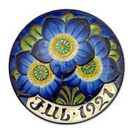 1921 Aluminia Faience Christmas Plate – Royal Copenhagen