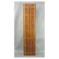 Inlaid wooden Cribbage Board