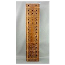 Inlaid wooden Cribbage Board