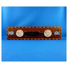 Wood Cribbage Board with Inlay and Whale