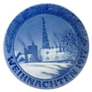 1917 Royal Copenhagen Christmas Plate – Weihnachten