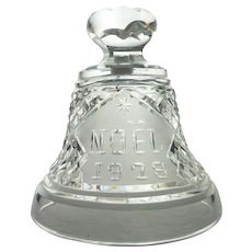 1978 Waterford Crystal Christmas Bell