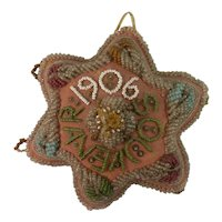 1906 Native American Six Lobed Beaded Pincushion