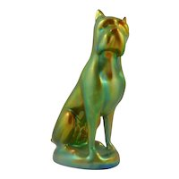 Zsolnay Eosin Dog Figurine – Boxer
