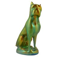 Zsolnay Eosin Dog Figurine – Boxer