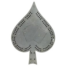 Cribbage Board Shaped like a Spade