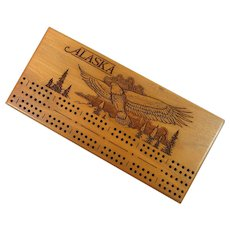 Wooden Cribbage Board –Alaska