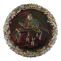 Fenton Art Glass Plate