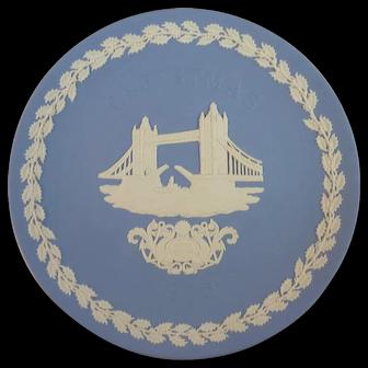 1975 Wedgwood Christmas Plate - Tower Bridge