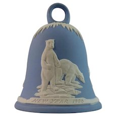 Wedgwood Jasperware Bell with Polar Bears