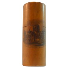 Mauchline Ware Cylindrical Container with Lid