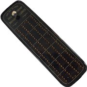 Celluloid or Plastic Cribbage Board with Trump Marker