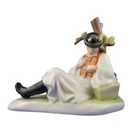 Reclining Flute Player by Zsolnay