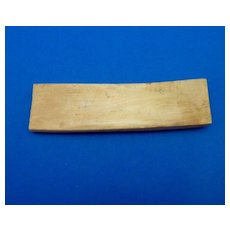Fossilized Bone Cribbage Board