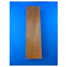 Wooden Cribbage Board with Metal Top