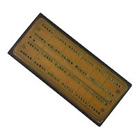 Cribbage board with Brass Top and Bakelite Base