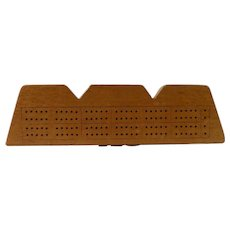 Ingot Shaped Maple Cribbage Board