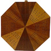 Octagonal Wood Cribbage Board