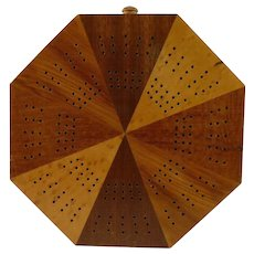 Octagonal Wood Cribbage Board