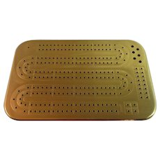 """Solid Brass"" Cribbage Board – Made in Canada"