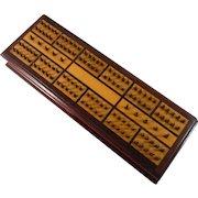 Beautiful Inlaid Wood Hedgehog Cribbage Board