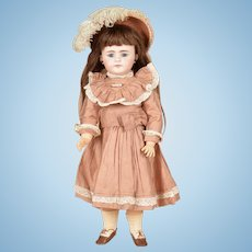 Beautiful Rose Pink Dress and Matching Hat for 22 Inch German Child Doll