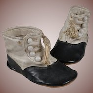 Sweet Antique Baby Shoes for a Large Doll
