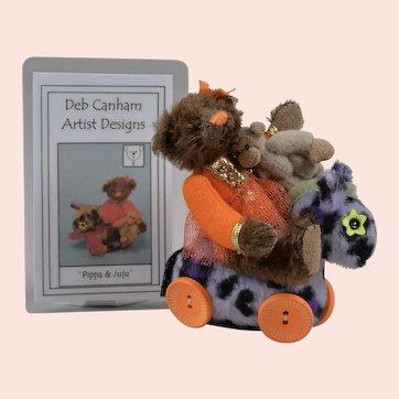 "Limited Edition Deb Canham Artist Bear ""Pippa & Juju"" - 3.5 Inches"