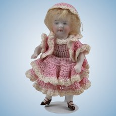 Sweet Painted Eye Kestner 154 All Bisque - 5 Inches