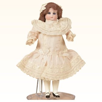 Sweet Small Sonneberg Child w Closed Mouth - 8 Inches