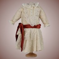 Lovely Lace Detailed Dress for Large Antique Doll