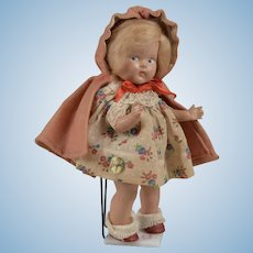 """Vintage Vogue Composition Toddles """"Red Riding Hood"""""""