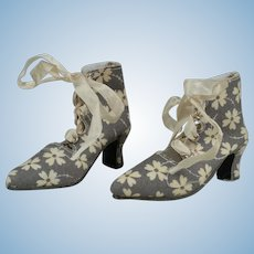 Connie Lowe BJD Boots in Grey Floral Print - SD13
