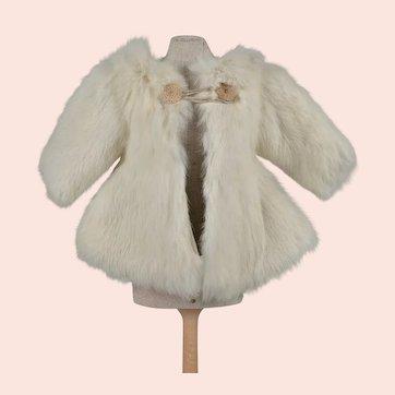 Adorable 1930s Fur Coat for 20 Inch Vintage Composition Doll
