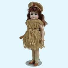 Sweet Tiny German Closed Mouth Doll Fine Quality - 5.5 Inches