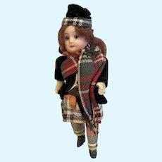 Tiny closed mouth Goebel Scottish girl - 5.25 Inches