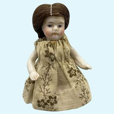 Tiny Early All Bisque Kestner w Jointed Arms - 3 Inches