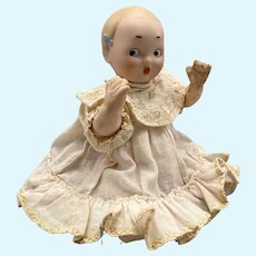 Sweet RA Character Baby w Molded Bows and Unusual expression
