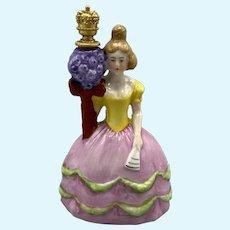 Delightful German Fancy Lady Perfume Bottle - 3.5 Inches