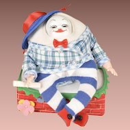 Cute Madame Alexander Humpty Dumpty w/ Original Wall and Box - 8 Inches