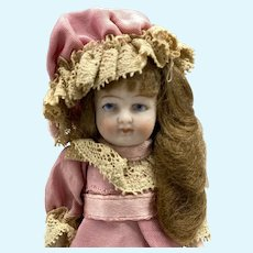 Lovely Early 20th Century All Bisque Doll - 3.5 Inches