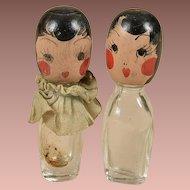 Sweet Pair of Flapper Era Perfume Bottles